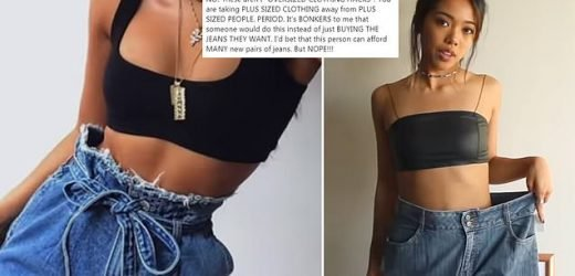 influencer accused of taking away clothes from plus-size people