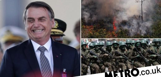 Brazil's president sends army in to help battle Amazon fires