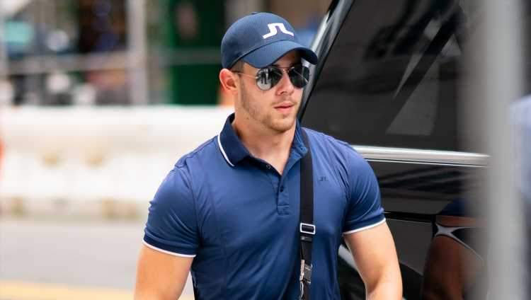 Nick Jonas Plays a Round of Golf Before Boston Concert