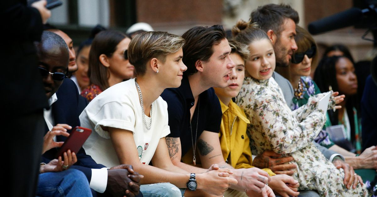Victoria Beckham's sons' secret fears exposed as they attend her LFW show