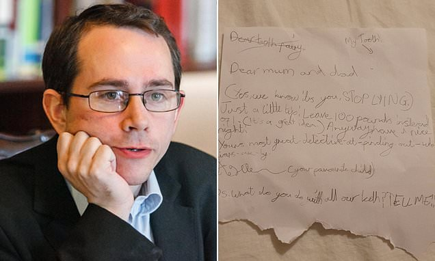 Father shares daughter's letter as she exposes parents as tooth fairy