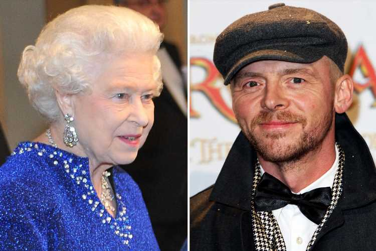 Simon Pegg joked he'd 'broken the Queen' after she struggled to start a conversation with him in 2010 – and claims to have 'made her cry' with his performance – The Sun