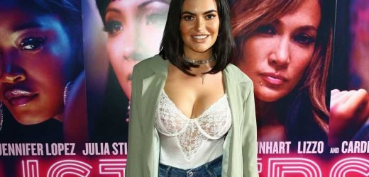 Megan Barton-Hanson looks amazing in lace body suit after ex Demi Sims says she 'stabbed her in the back'