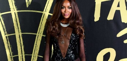 Naomi Campbell, 49, looks incredible in plunging sheer dress at Fashion For Relief