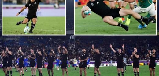 New Zealand 23 South Africa 13: Favourites stake claim for title with thrilling win over Springboks – The Sun