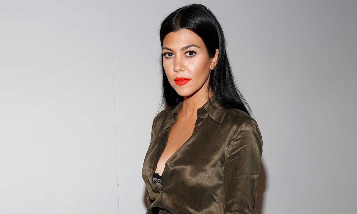 Kourtney Kardashian looks unrecoginsable with a  fringe – and jokes her hair looks like a wig