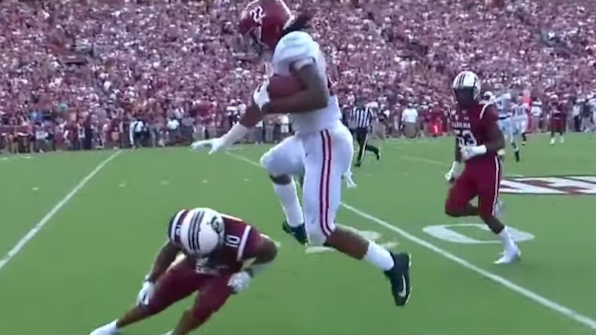 Najee Harris hurdle touchdown: Alabama player's highlight TD could be play of season