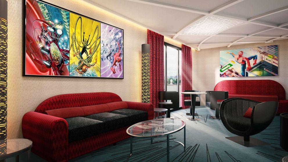 Take a sneak peek inside the Marvel hotel coming to Disneyland Paris