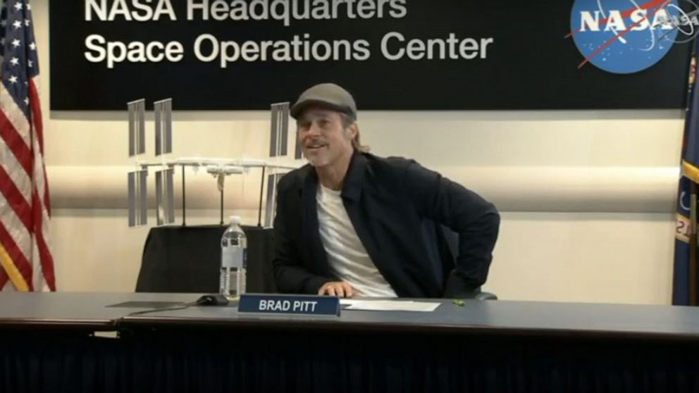 Brad Pitt's out-of-this-world interview with NASA astronaut on Space Station