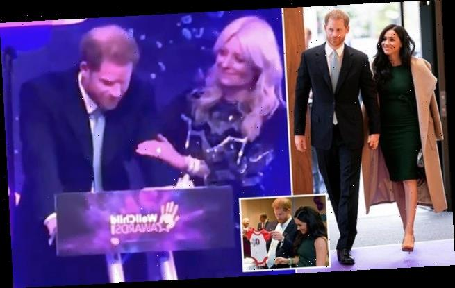 Prince Harry chokes up at awards as he talks about becoming a father
