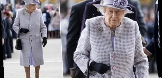 The Queen wears lilac for day at the races as she arrives at Ascot
