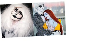 25 Dreadfully Romantic Makeup Looks Inspired by The Nightmare Before Christmas