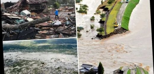 Japan Typhoon – 26 dead and 175 injured as terrifying 140mph Hagibis slams into Japan sparking landslides and floods